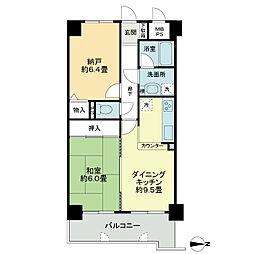 ライオンズマンション徳島南佐古[2階]の間取り
