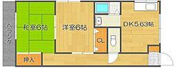 トモエハイツII[2階]の間取り
