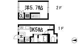 [テラスハウス] 兵庫県川西市寺畑1丁目 の賃貸【/】の間取り