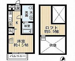 兵庫県神戸市須磨区大池町5丁目の賃貸アパートの間取り