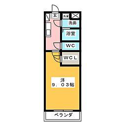 S-FORT鈴鹿(エスフォート鈴鹿)[4階]の間取り