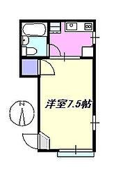 シャトレー茅ヶ崎C202[202号室]の間取り