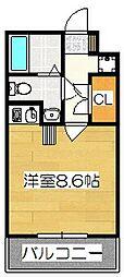 メモリアル博多[2階]の間取り