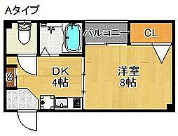 アパートメント・レボー[4階]の間取り