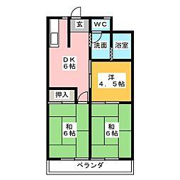 名栗苑[3階]の間取り