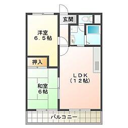 ブルーシャイン桃山台[2階]の間取り