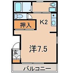 0322コーポ・サークル1[302号室]の間取り