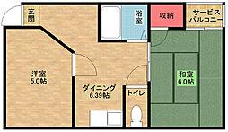 フォンタルI[3階]の間取り