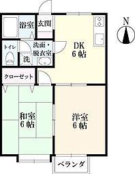 サンフラット21−II[B 101号室]の間取り