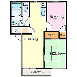 近鉄志摩線 志摩赤崎駅 徒歩30分の賃貸アパート 2階2LDKの間取り