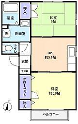 シャーメゾン四番館[1階]の間取り