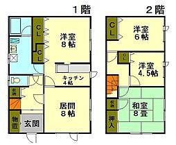 [一戸建] 北海道小樽市奥沢4丁目 の賃貸【北海道 / 小樽市】の間取り