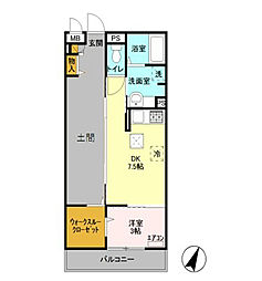 ロイジェントパークス レイクタウン H[1階]の間取り