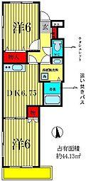 千葉県松戸市栄町7丁目の賃貸マンションの間取り