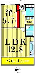 東京都足立区東伊興2丁目の賃貸マンションの間取り