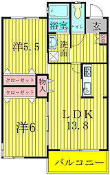 スペリオKII[1階]の間取り