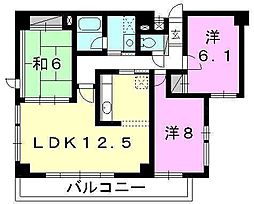 ロイヤルメゾン岩崎町[405 号室号室]の間取り