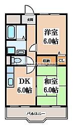 カルム東大阪[5階]の間取り