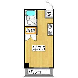 フローレンス2[1階]の間取り