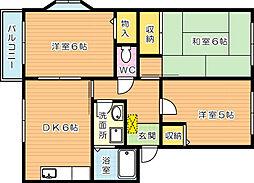 学園台シャルマンIII[2階]の間取り