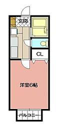 フルーレ南方[1階]の間取り