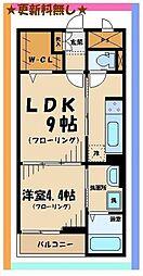 京王線 東府中駅 徒歩13分の賃貸マンション 1階1DKの間取り