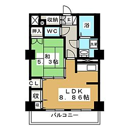 レジデンスカープ札幌[15階]の間取り