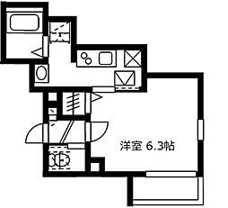 神奈川県川崎市幸区神明町1の賃貸マンションの間取り