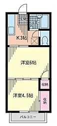 ハイム湘南台[2階]の間取り
