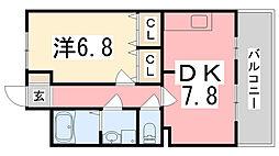 ポラリス弐番館[2階]の間取り