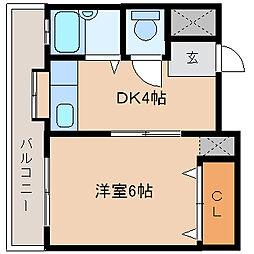 新立花マンション[3階]の間取り