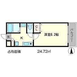 Largo讃州寺[3階]の間取り