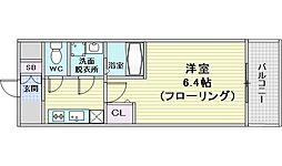 コンフォリア江坂広芝町 8階1Kの間取り