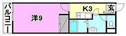 エグゼ松山[302 号室号室]の間取り