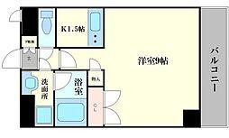 コーポYAHATAナンバ元町[4階]の間取り