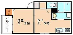 レディア井尻[2階]の間取り