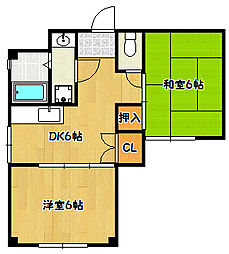 兵庫県神戸市北区鈴蘭台南町1丁目の賃貸マンションの間取り