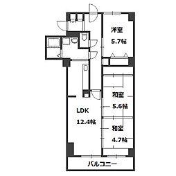 北海道札幌市豊平区月寒東一条7丁目の賃貸マンションの間取り