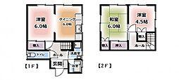 [一戸建] 千葉県柏市南逆井6丁目 の賃貸【/】の間取り