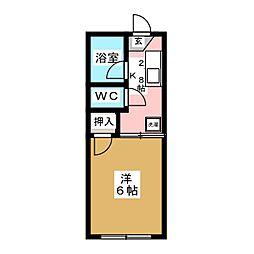 フォーブルコンフォート[1階]の間取り