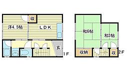 [一戸建] 兵庫県姫路市玉手 の賃貸【/】の間取り