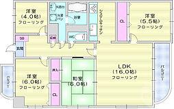 タカヤスマンション 2階4LDKの間取り