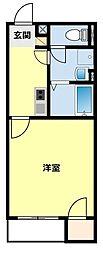 愛知県豊田市花園町稲荷下の賃貸アパートの間取り