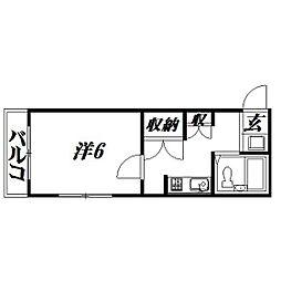 静岡県浜松市中区城北2丁目の賃貸マンションの間取り
