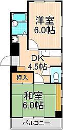 プランドール加甚2[3階]の間取り