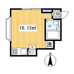 ポケットハウス[1階]の間取り