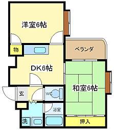 シャルマンコーポ[4階]の間取り