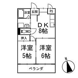 レジデンス下荒田 3階[303号室]の間取り
