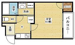 フジパレス東淀川VI番館[2階]の間取り
