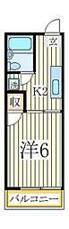 イーグルハイツA[1階]の間取り